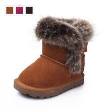 Натуральная кожа дети снегоступы зимняя детская обувь для девочек и мальчиков теплые симпатичные малышей ботильоны Youleshu детская обувь