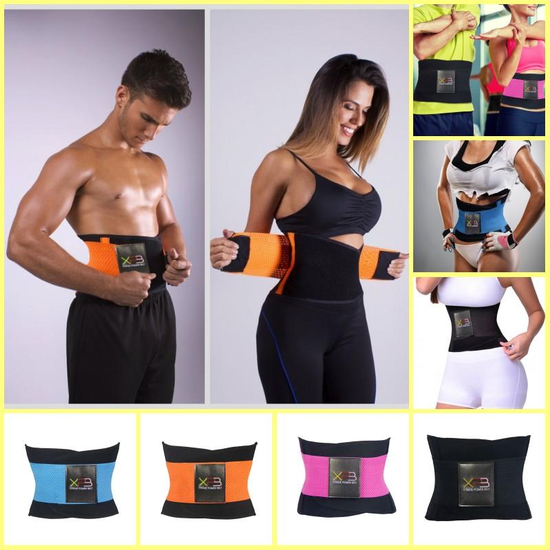 2016 Newest Women Men Sports Waist Trainer Training Xtreme Power Belt Shaper Adjustable Fitness Waist Support Sports Safety(China (Mainland))
