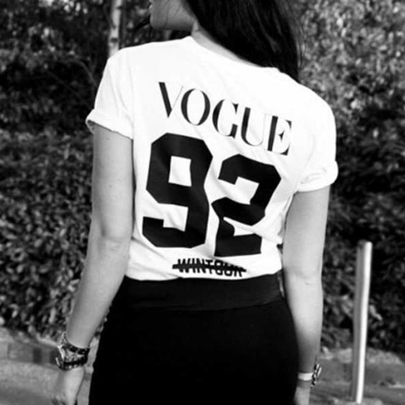 Summer women hipster kawaii t shirt print vogue number 92 sexy junior tops donna t-shirts high quality FLY 02091713(China (Mainland))