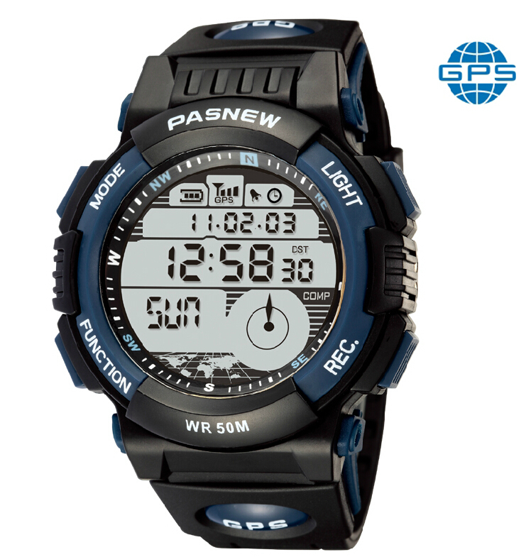 Pasnew outdoor sports GPS navigation military watches multifunction electronic waterproof mountaineering jogging male watch(China (Mainland))