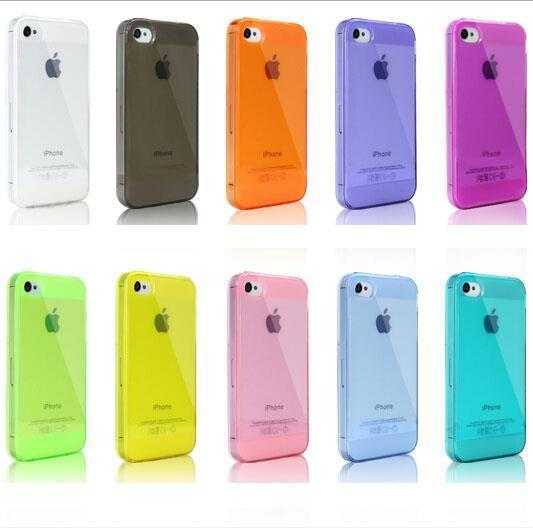 Buy 2pcs get 50% discount 10 Colors hot selling Ultra Thin Clear Shell Capa Clear Cover for iPhone 5s 5 4 4s Case for iPhone5 5s(China (Mainland))