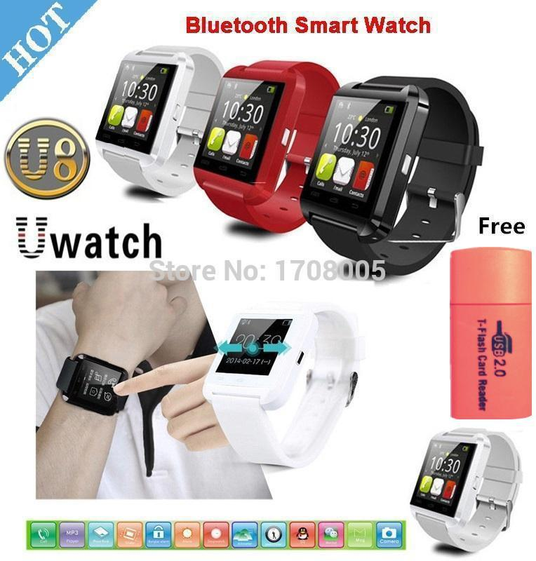 Hot ! 2015 new U8 Smartwatch Bluetooth Smart Watch WristWatch Wrist Wrap Handsfree IOS ,Andriod Phones