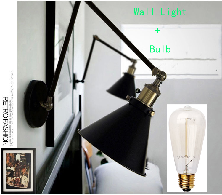 Whirlpool Bad Gebruikt ~   retro vintage iron wandlamp 40 W Antieke wandlamp industri?le Met E27