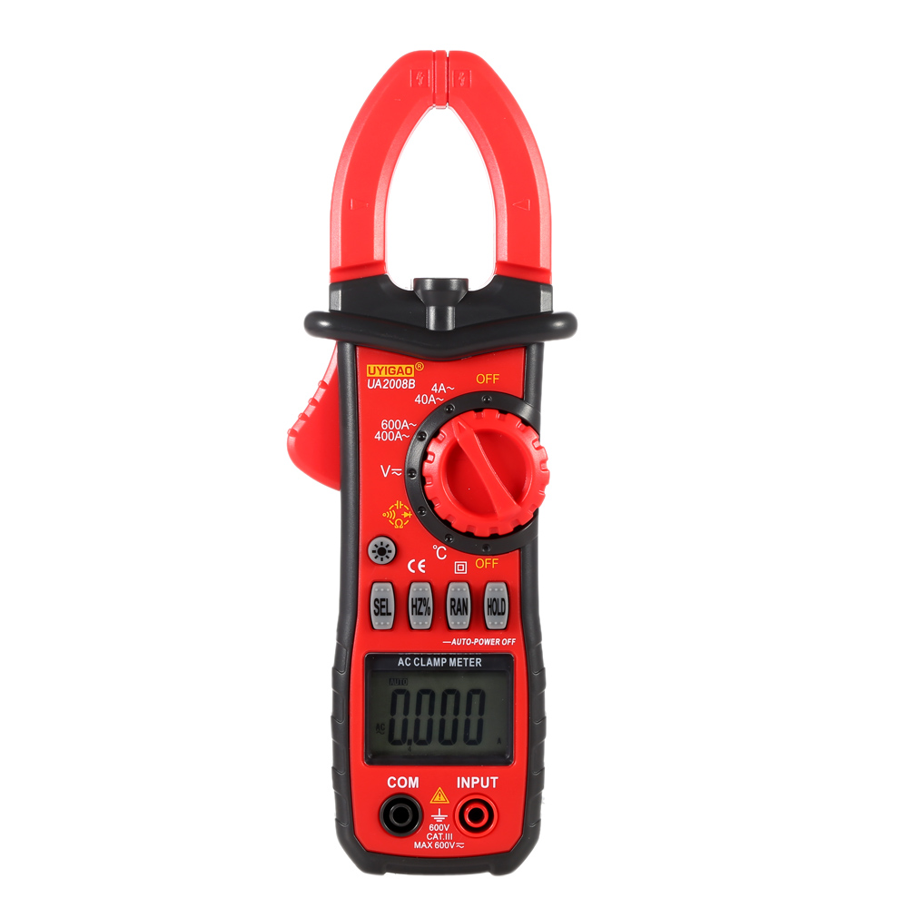 Digital LCD Clamp Meter Multimeter DC/AC Voltage AC Current Resistance Diagnostic-tool Temperature Frequency Duty Ratio Measurer(China (Mainland))
