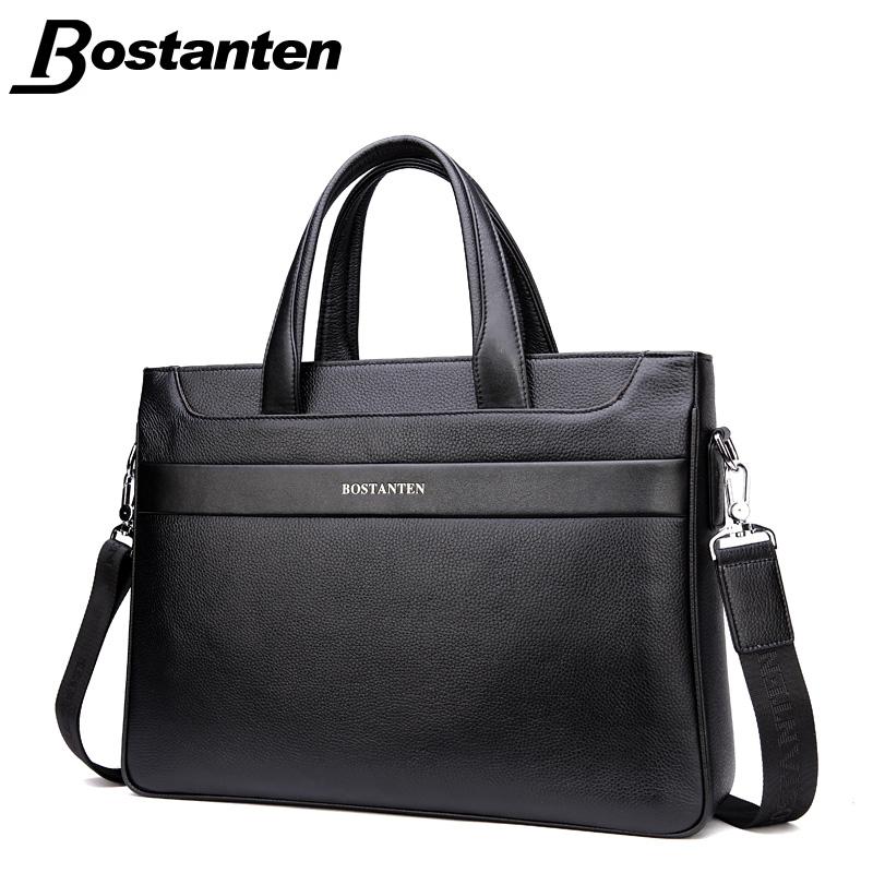 Bostanten 2016 Men Briefcase Business Shoulder Genuine Leather Bag Men Messenger Bags Computer Laptop Handbag Crossbody Bag(China (Mainland))