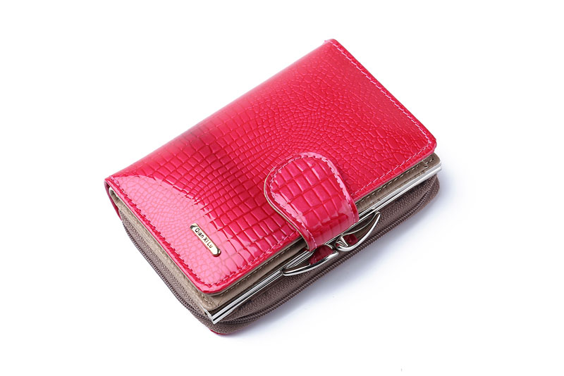 HTB1omiQPpXXXXbxXpXXq6xXFXXXo - Fashion Real Patent Leather Women Short Wallets Small Wallet Coin Pocket Credit Card Wallet Female Purses Money Clip Gold color