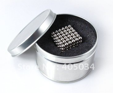 Global free shipping 5mm nickel Neocube Buckyballs Magic cubes Toys Magnetic balls 50sets for Retail Sale 15usd/set(China (Mainland))