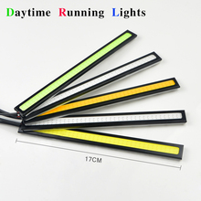 1Pcs Full New 100% Waterproof Ultra Bright 17cm LED Daytime Running lights COB Day time DC12V Fog Auto Car DRL light Source(China (Mainland))