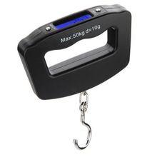 50 KG / 10 G LCD Digital Fish Hanging peso del equipaje del gancho escala oeste Tackle