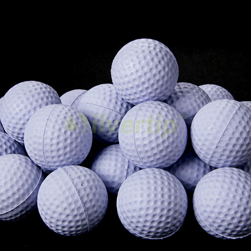 Free Shipping New 30pcs White PU Foam Golf Balls Sponge Elastic Indoor Outdoor Practice Training(China (Mainland))
