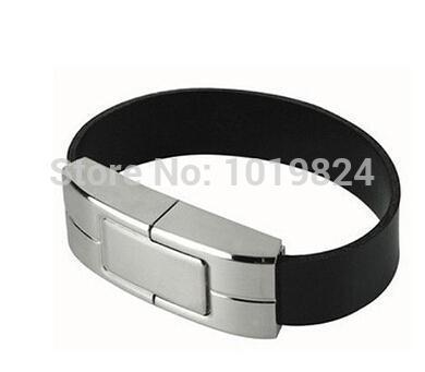 Christmas gift100% real capacity Model Wristband iron leather USB Flash 2.0 Memory Sticks Drive Pen Disk 8GB 16G(China (Mainland))
