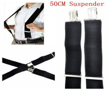 Hot Sale New 50mm Elastic Black Wide Mens Gentles Braces Plain Heavy Duty Durable Suspender 1 Piece Free Shipping(China (Mainland))