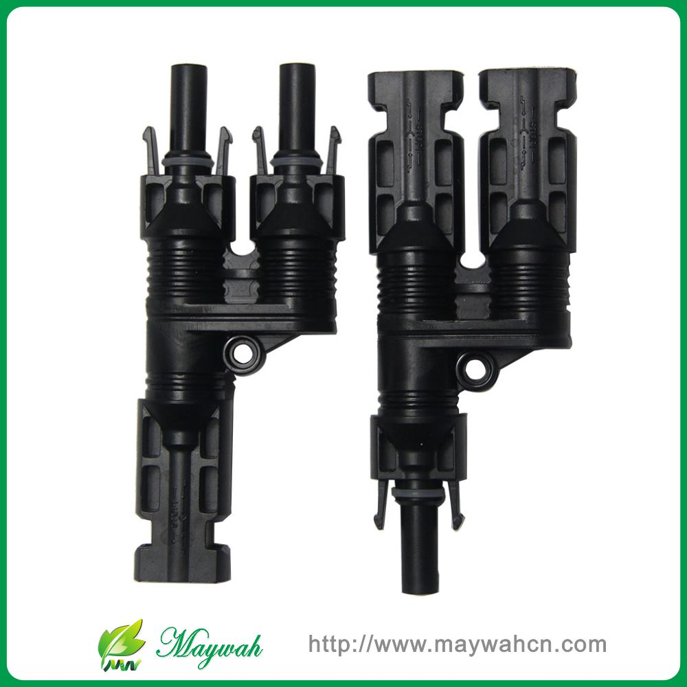 DECEN@ 2 Pairs H Type MC4 Style Branch Connectors With CE, TUV.Be Used Solar Generator System, Free Shipping(China (Mainland))