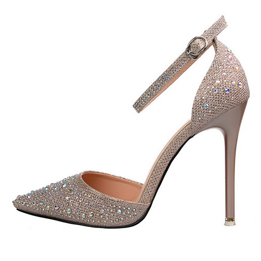 Online Get Cheap Silver Ankle Strap Pumps -Aliexpress.com ...