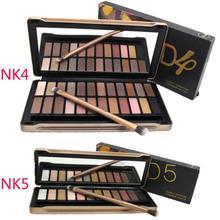 2014 new 2 pcs nake 4 5 eyeshadow palette 24 metallic colors NK4 and NK5 Eye Shadow palette with Brush makeup set 2 pcs/lot(China (Mainland))