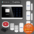 KERUI English Russian French Spanish TFT Android IOS APP Touch keypad GSM Alarm System PSTN Dual