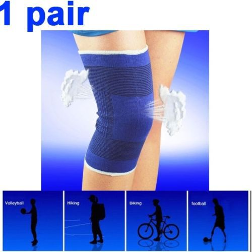 1 Pair Top Quality Elasticated Knee Sleeves Supports Brace Bandage Injury Support Pad Sport Strech Sleeve for Adult Men & Women(China (Mainland))
