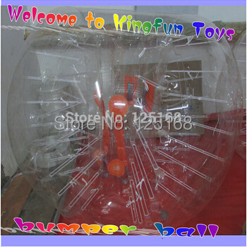 Free shipping 1.5m 100% pure 1.0mm TPU Bumper bubble Soccer/bubble suit/loopy ball +1pc air pump(China (Mainland))