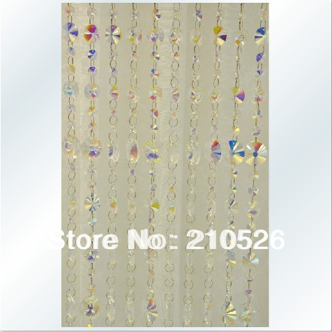 Free shipping!AAA+ size 90cm*200cm Luxury crystal strand bead curtain for home wedding decoration(China (Mainland))