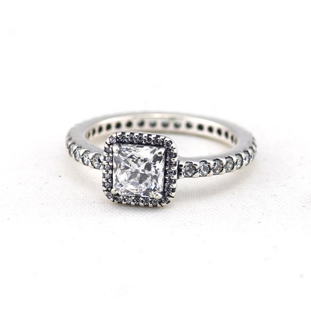 Элегантность площадь камней кольца оригинал 925 кольца для женщин сделай сам мода ювелирных изделий аксессуары кольцо оптовая продажа