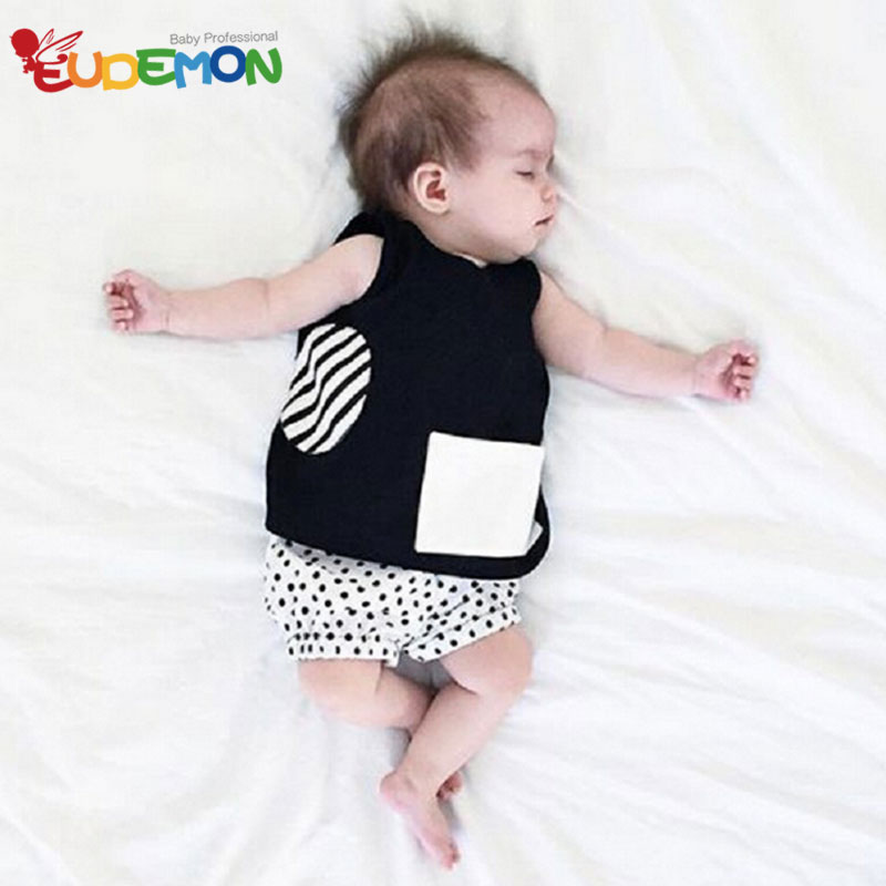 [Eudemon] Cotton Baby Clothing Sets O Neck baby boy clothes summer Fashion Vest and Shorts child clothes character baby sets(China (Mainland))