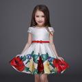Bandage Tutu Brand Designer Flower Princess Fashion 2016 Floral Summer Print Girls Dresses Casual Vestidos Kids