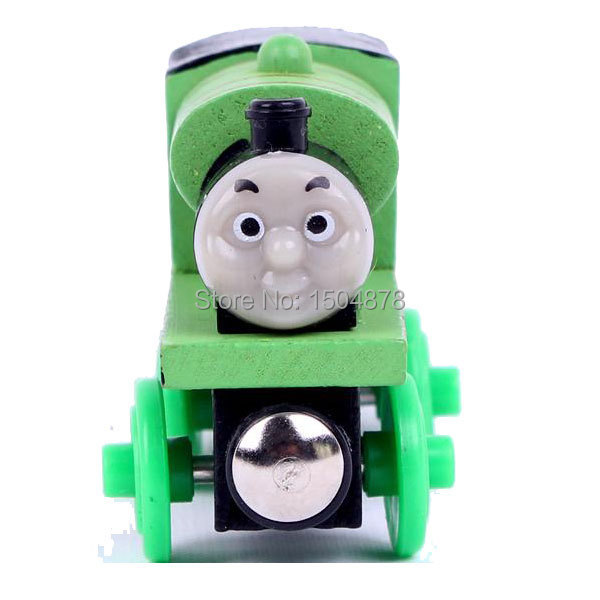 5pc one set Wooden Magnetic Thomas Train Toy Railway good gifts for boys(China (Mainland))