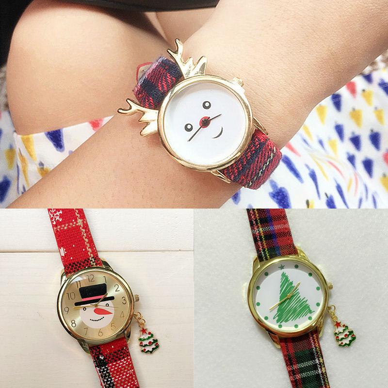 Гаджет  Fashion women Wristwatch Denim canvas strap Quartz watch High Quality christmas  elk tree watches relogio christmas gifts None Часы