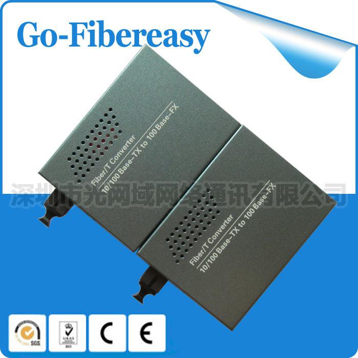 Bi-Di Single mode Single Fiber 10/100Mbps Fiber Optical Media Converter 25km 2pcs/lot(China (Mainland))