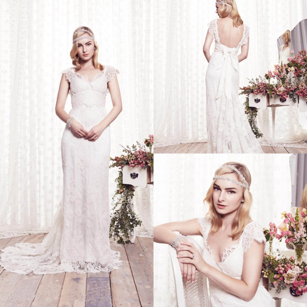 1 vestidos de novia renda 2015 sexy lace wedding dress for Open back bow wedding dress
