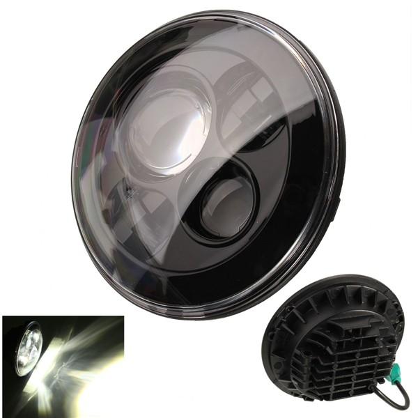 Купить Новый 7 Дюймов Мотоциклов Проектор Daymaker Привет/Lo Светодиодные Лампы Фар Для Harley