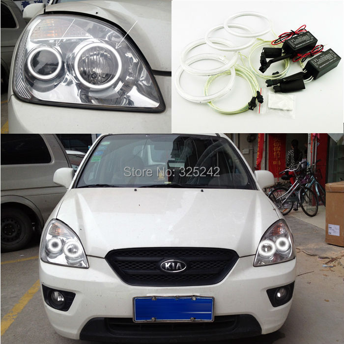 Здесь можно купить  Excellent Ultrabright headlight illumination CCFL Angel Eyes kit For Kia Carens Second Generation Kia Rondo 2006-2012 Angel Eyes  Автомобили и Мотоциклы