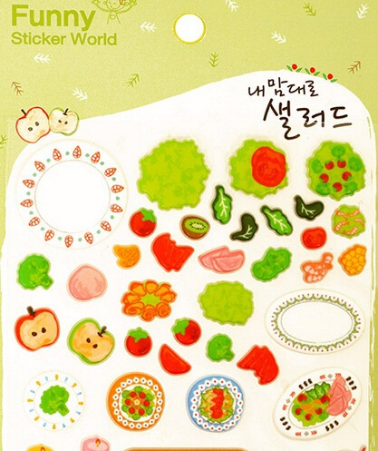Creative 3D Fruit & Vegetables series sticker/Decoration label/Phone sticker/ Wholesale(China (Mainland))