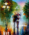 Hand Painted Lover Landscape Oil Painting Picture Modern Wall Paintings On Canvas Pictures For Decor Street