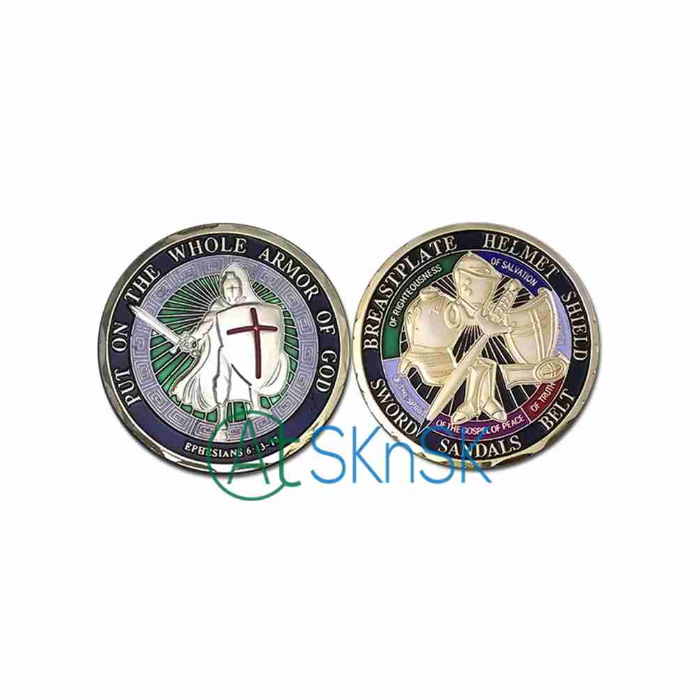 Hot Sale United States Navy, Put on the Whole Armor Of God Challenge Coin, 4 Designs for Choice(China (Mainland))
