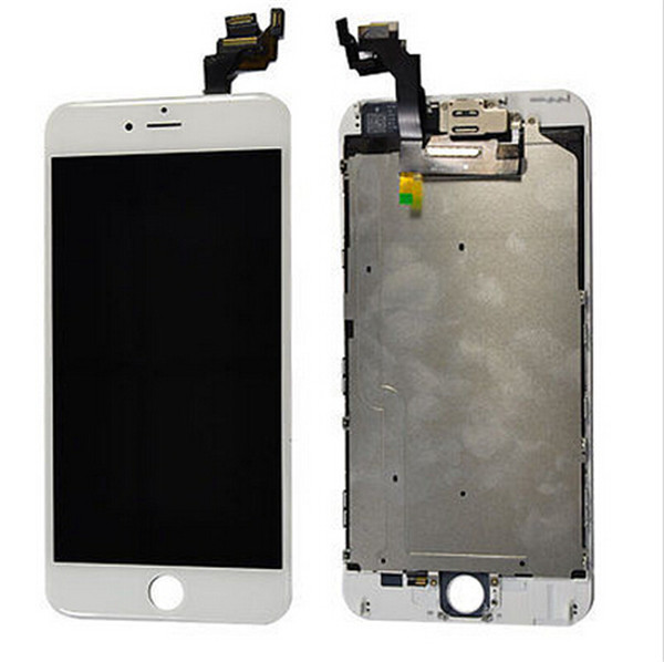 White for iphone 6 plus lcd 5.5 display touch screen digitizer full replacement+ frame + camera sensor& home button +flex cable(China (Mainland))