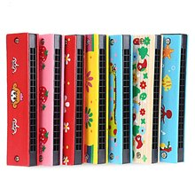 Cute & Colorful Musical Harmonica Instrument Different Patterns Kid Cartoon Educational Intelligence Toy Relaxing & Learning(China (Mainland))