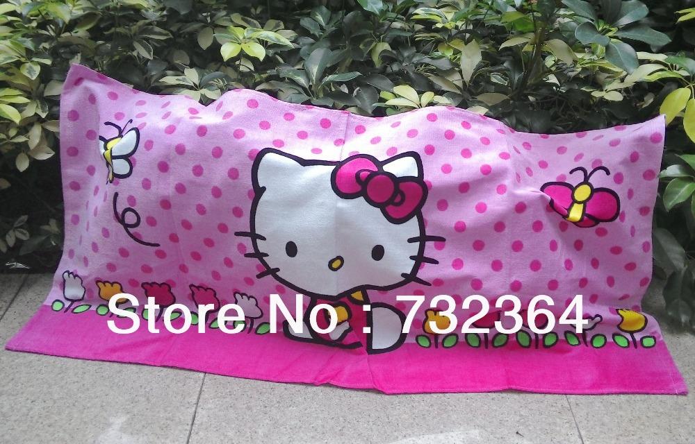 100% cotton kitty cat 60x120cm childrens bath towel/SPA towel printing towel(China (Mainland))