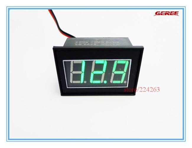 50pcs/lot 2.7-30V DC Digital Panel Meter Digital Voltmeter Green LED Waterproof Car Motor Motorcycle Panel Meter #V007G<br><br>Aliexpress