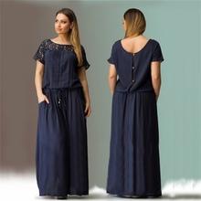 WJ Short Sleeve Lace Summer Dress Big Sizes New Women Summer Plus Size Long Dress Maxi Party Dress Vintage Vestidos L-6XL(China (Mainland))