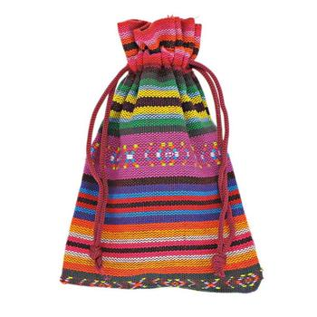 Wholesale 10Pcs 10x14cm Multicolor Tribal Tribe Drawstring Jewelry Gift Bags Pouches