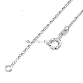 Real Gold Plated 18 inch 0.9mm Necklace Chain Wholesale free ship