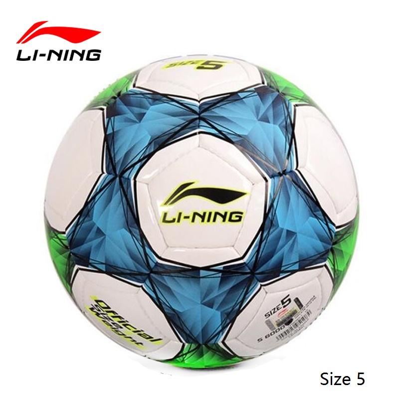 Original li-ning Football Ball High Quality PU Leather Soccer Ball Training Balls Official Soccer Ball Size 5/4/3(China (Mainland))