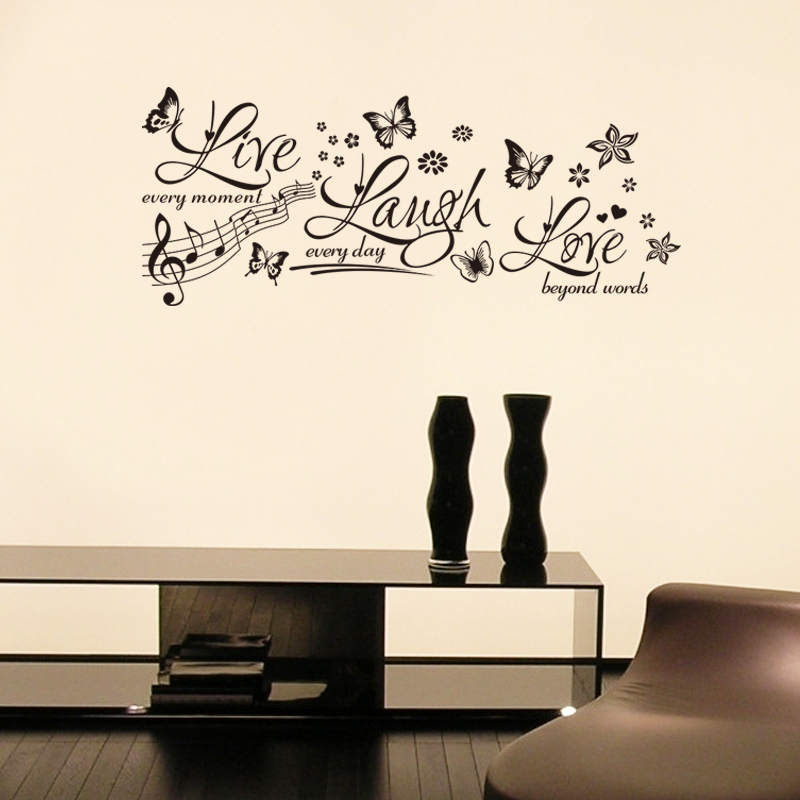 Letters wall decals