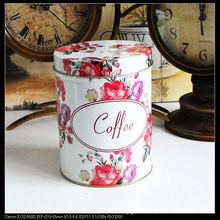 The new pattern cylindrical coffee pot roses Spices Storage Box Cookie Jar Tea Kitchen Accessories Candy box 14cm*11cm(China (Mainland))