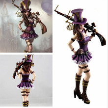1pc LOL League Anime doll League City policewoman Caitlin skin ornaments tuba Model Decoration Best Toys and Gifts for children(China (Mainland))