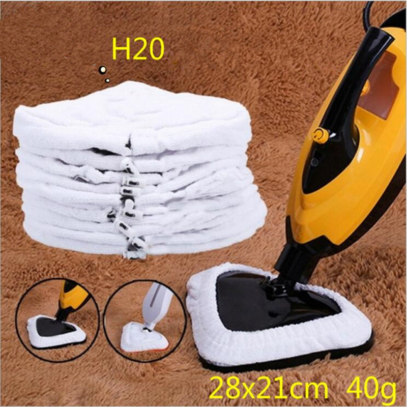 4Pcs/Lot H2O X5 Model Steam Mop Replacement Pad Mop Clean Washable Cloth Microfiber WASHABLE Mop Head In Mop Reusable Cloth(China (Mainland))