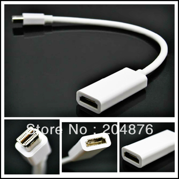 30pcs/lot Thunderbolt 23CM Mini DisplayPort DP to HDMI(Female) Adapter Cable For Apple Macbook Pro iMac A010+FREE SHIPPING