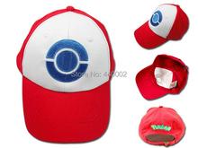New Visor Cap POKEMON ASH KETCHUM COSTUME Cosplay Hat Blue 10/LOT Free Shipping(China (Mainland))