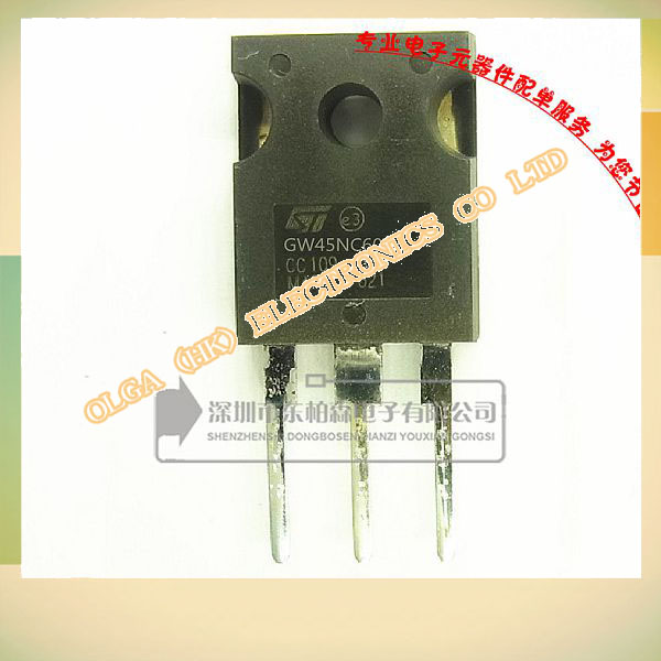 Over a hundred free shipping STGW45NC60WDIGBT triode tube 600V90A large current spot(China (Mainland))
